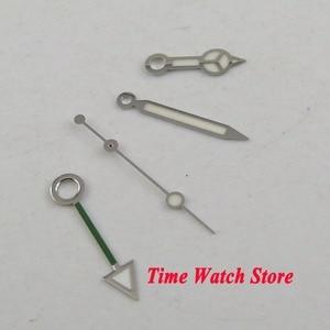 Image 2 - כסף צבע זוהר שעון יד GMT fit עבור Mingzhu 3804 אוטומטי תנועה כחול ירוק אדום H115