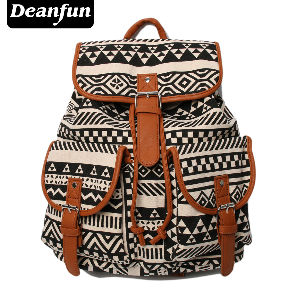 Deanfun Vintage Rucksack Printing Canvas Women Backpack Mujer Mochila Escolar Feminina School Bag Sac a Dos BFS3 vga hdmi lcd controller board edp led diy kit for lp156whb 15 6 inch edp 30 pins 1 lane 1366x768 wled lcd free shipping
