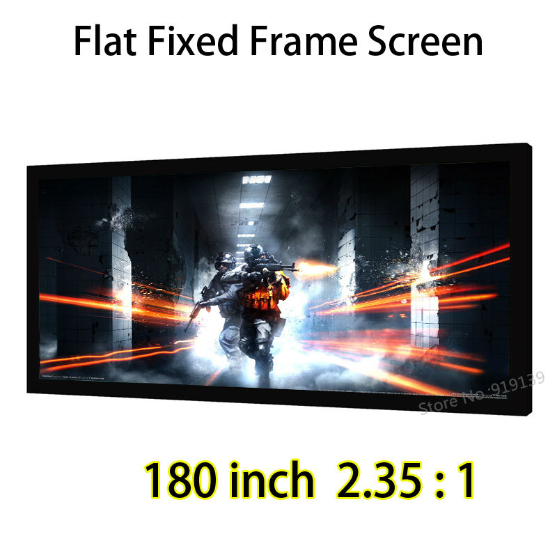 Gain 1.2 Matte White Fabric 180 Diagonal 2.35x1 Widescreen Flat Fixed Frame Projection Screen For 4K Display oakley l frame snow matte white w persimmon