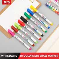 M&G 12 Colors/set Colored Whiteboard Markers, Dry Erase Color Markers, 1.0mm, office, school,stationery,drawing,art supply