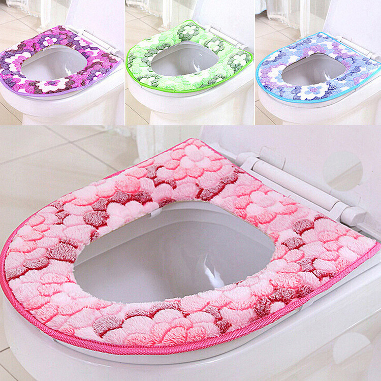 Winter Toiletbril Warmer Coral fleece Thicken Tapijt Toiletbril Cover Zacht Comfortabel Baby Potty Seat Overwinter Toilethoes