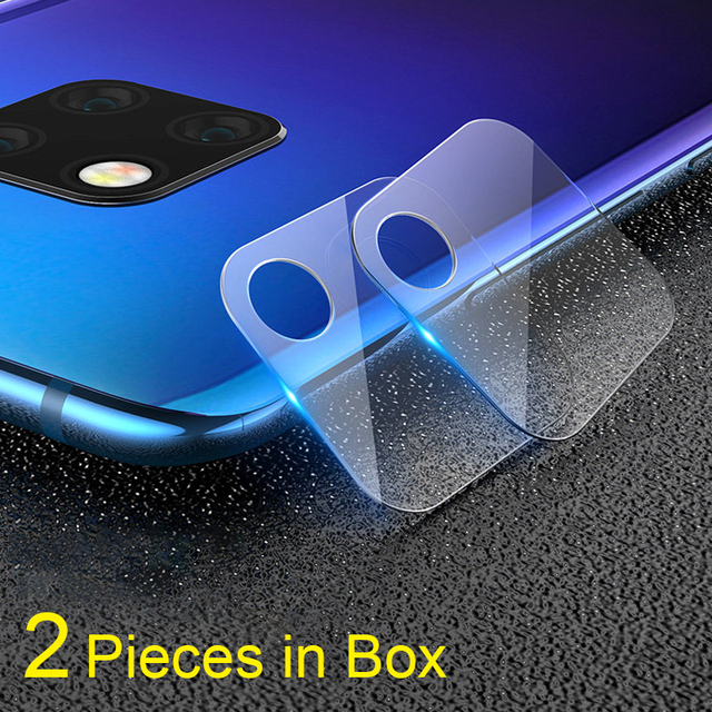 2PC per Huawei Compagno di 20 pro Obiettivo di Macchina Fotografica di Vetro Temperato A Prova di Esplosione Obiettivo di Macchina Fotografica Posteriore di Protezione per Huawei Mate 20 30 X P20 Pro