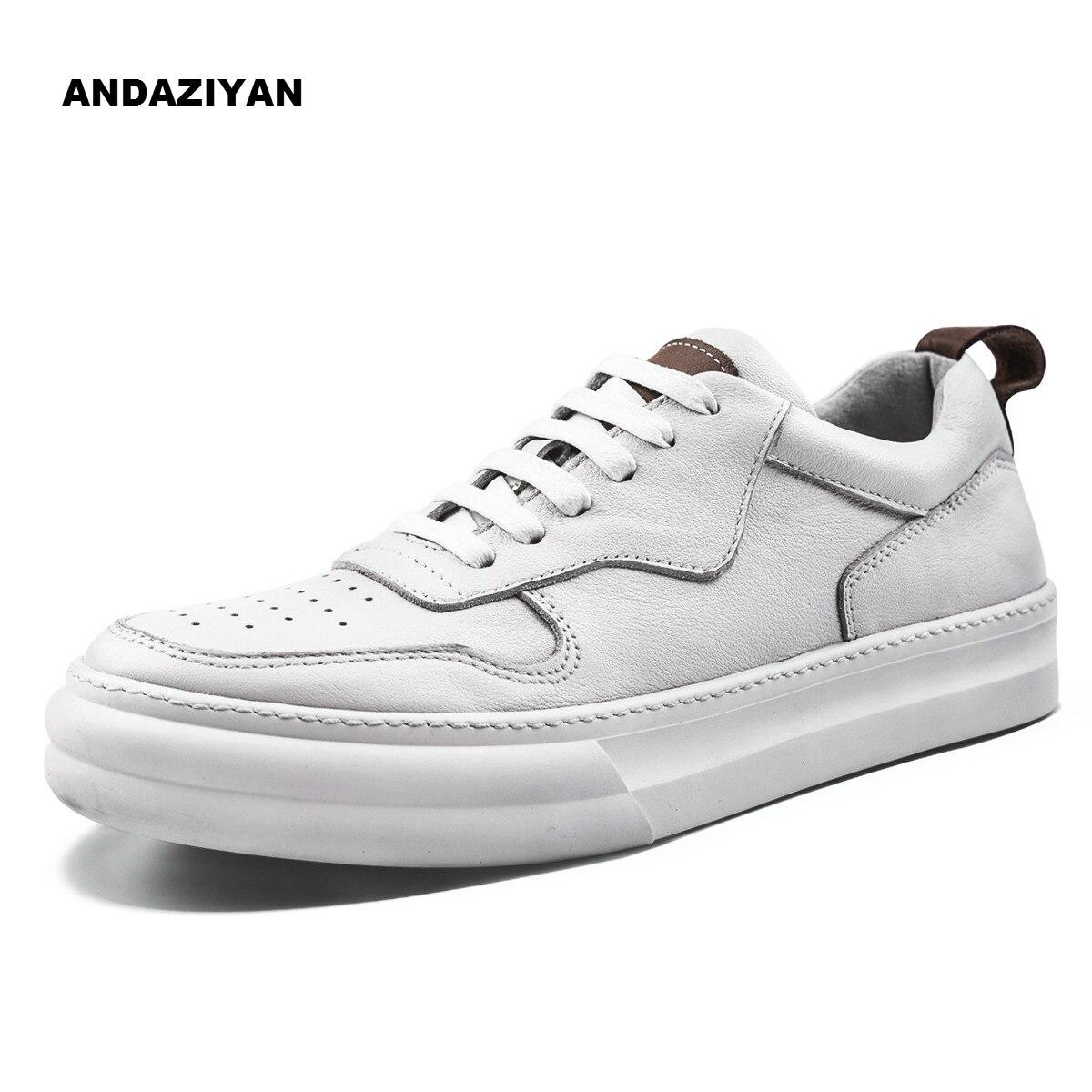 Atmungsaktiv Schwarzes Schuhe Casual Dicke Weiß Sohle Wilden Leder Frühling Hohe weiß Weiße Student Männer HBZ7xqn8