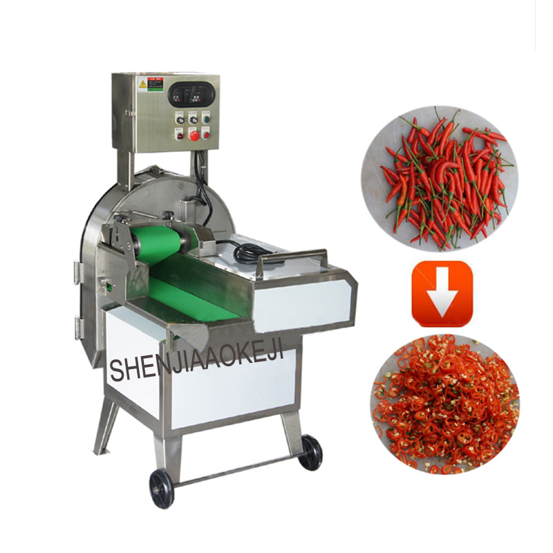 TS-Q120 Vegetable cutter stainless steel electric spiral vegetable slicer High-speed chili shredding machine 220V 1PC