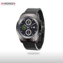 Смарт часы гибридные ZeTime Elite Petite блочный металлический ремешок цвет титан