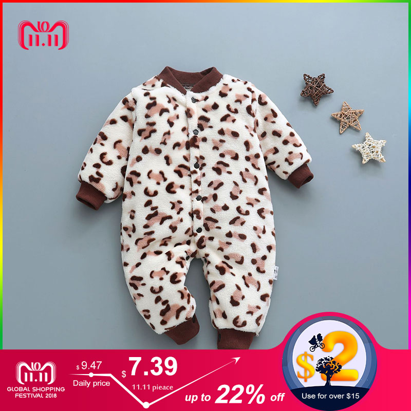 newborn baby clothes soft flannel toddler baby jumpsuit long sleeve winter cotton infant girls clothes cute warm newborn romper spring autumn baby clothes flannel baby boy clothes cartoon animal 3d bear ear romper jumpsuit warm newborn infant romper