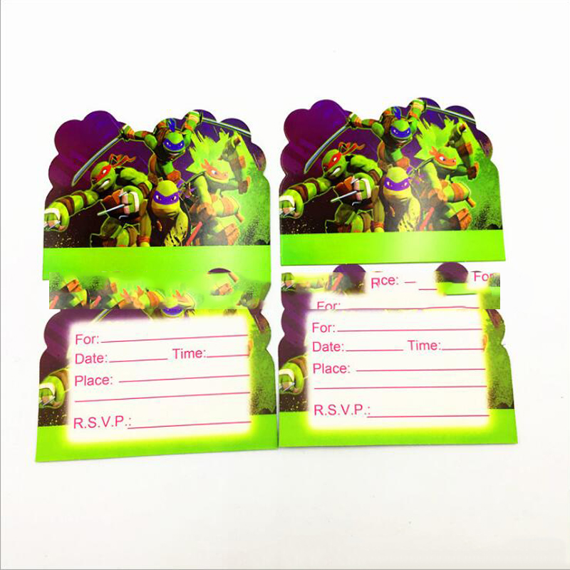 Hot sale baby shower theme party decoration cartoon ninja turtles baby shower theme party decoration cartoon ninja turtles invitation cards boys kids favors birthday events supplies 10pcslot filmwisefo