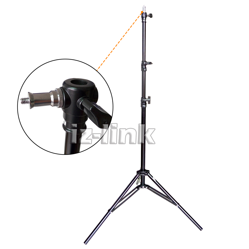 ALUMOTECH 7.2 foot Air Cushion stand Tripods for video stodio camera LED light jb300 pro premium grade light stand 2 8m stand with air cushion professional air cushioned light stand no00dc