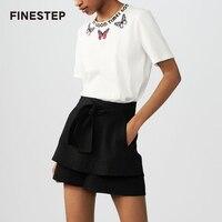 Для женщин белая футболка офисные рукавами Повседневная футболка Femme Высокое качество известный Лидеры брендов Для женщин