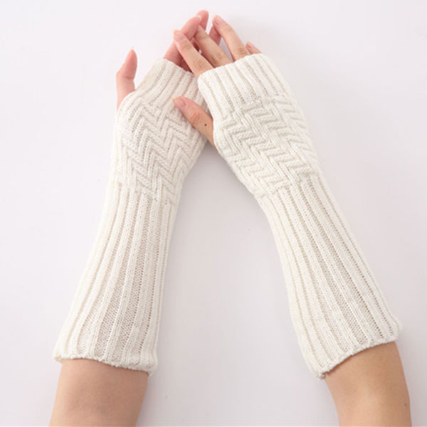 New 1pair New Hand Knitted Half Fingers Long Gloves For Women Warm Autumn/Winter Hand Arm Gloves VN 68