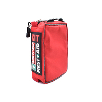 Red First Aid Kit Bag Survival Camping Car Outdoor Medical Bag Empty First Aid Pouch Waterproof 3 Layer With Lables Oxford Cloth