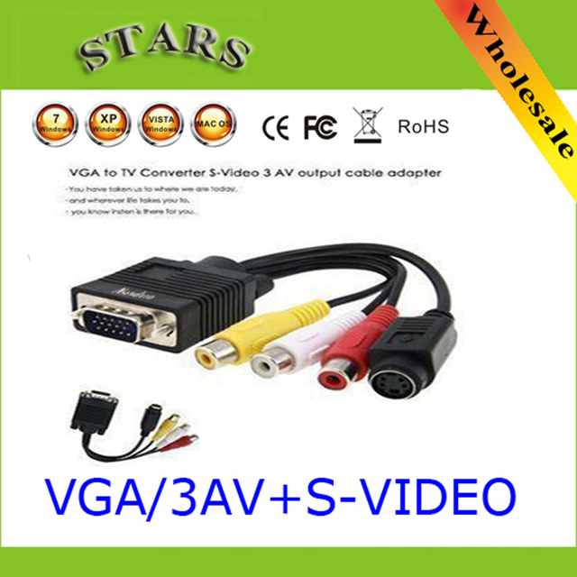 Vga To Av S Video 3 Rca Converter Cable: PC Computer VGA to TV S Video (4Pin) 3 RCA AV Adapter Cable  vga to rh:aliexpress.com,Design