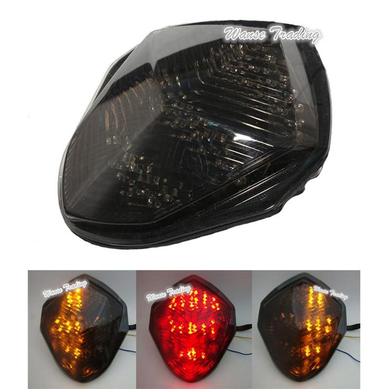 Black Custom LED Mirrors Turn Signals Fit Suzuki GSXR1000 2005-2006 BS1