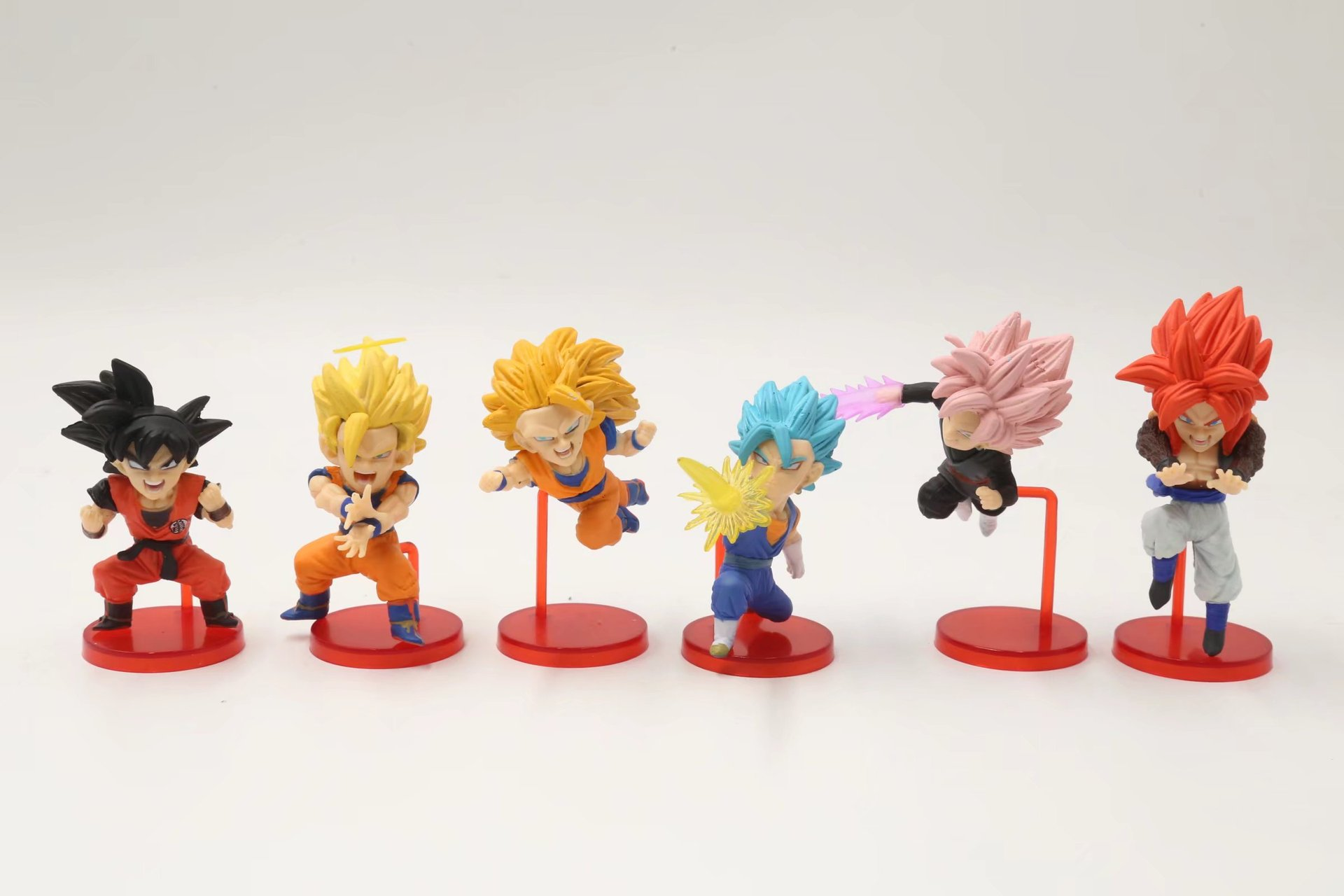 Dragon Ball Super vol.6 Son Gohan Goku Black Trunks Mai Zamasu PVC Figures Collectible Model Toys 6pcs/set 8cm