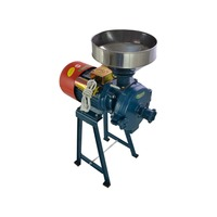 220V Electric Feed Mill Wet Dry Cereals Grinder Rice Grain Coffee Wheat
