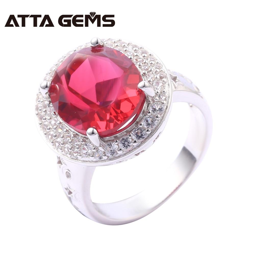 Bagues en argent Sterling rubis pour femmes 8 Carats créé rubis bijoux en argent massif Style classique pour les femmes de fiançailles de mariage