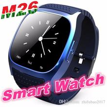 M26 Bluetooth Sports Smart watch with Dial SMS Remind Music Player Pedometer for ios Android Smart phones Stylish simplicity free shipping in stock dz09 bluetooth smart watch m26 dial sms pedometer for all phone android phone smartwatch m26