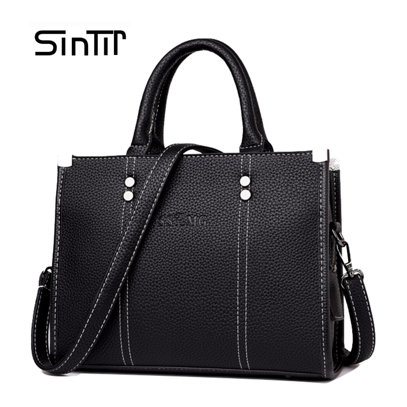 SINTIR Women Leather Business Bag Women Handbags Girls Casual Tote Bag Female Large Shoulder Bags Woman CrossBody Bag sac a main sintir autumn women genuine leather handbags famous brand girls tote shoulder bags designer female crossbody bag bolsos sac main