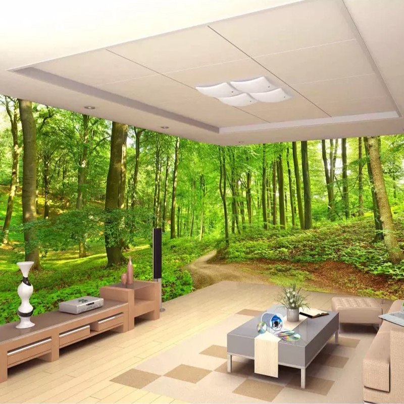 Custom 3D Photo Wallpaper Forest Tree Small Road Wall Mural Wallpapers For Living Room Bedroom Home Decoration Papel De Parede