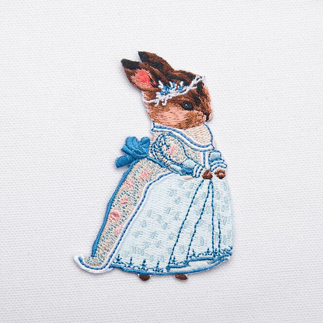 Embroidered Rabbit Bunny Patch for Clothing Iron on Applique Clothes - Arts, Crafts and Sewing - Photo 4