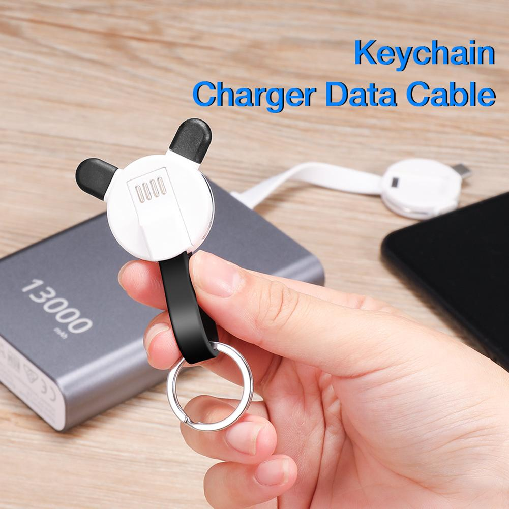 Image 5 - 3 in 1 New Bear Keychain Charging Cable Data Cable Data Transmission Charging Data Cable For Ios Android TYPE C Portable-in Data Cables from Consumer Electronics