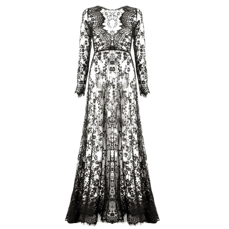 long sleeve patchwork dress