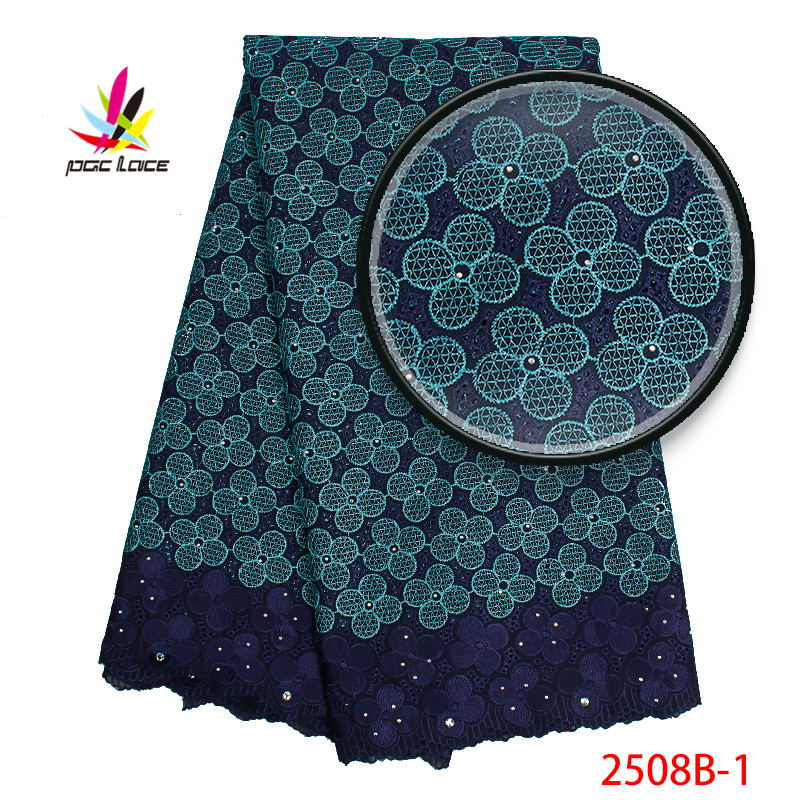 African Swiss Lace Fabrics 2019 New Arrival Voile Fabrics Laces With Stones Swiss Lace For Women