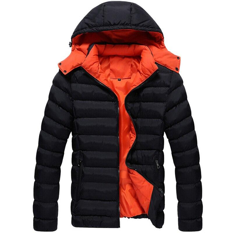 Men Winter Jacket New Fashion Jacket Down polyester Coat Men Parka Outwear Wear High Quality Plus