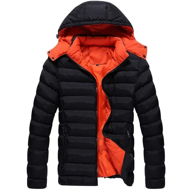 Men Winter Jacket New Fashion Jacket Down polyester Coat Men Parka Outwear Wear High Quality Plus Size 3XL Thick Warm Coat