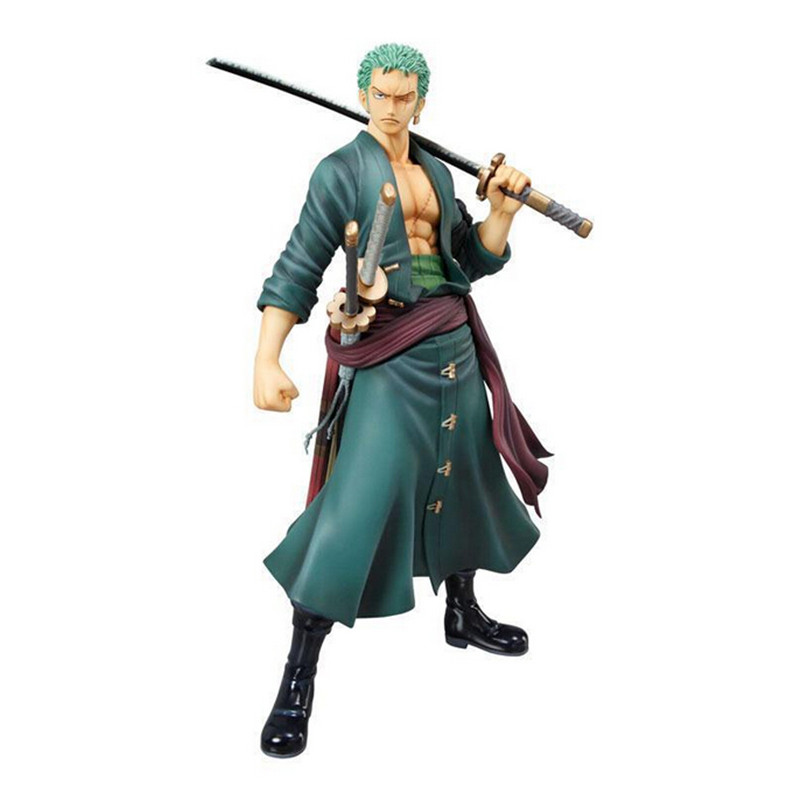 One Piece Zoro Figure SHF PVC 180mm Action Figures S.H. Anime Toys Roronoa Cool Decisive Battle Version L148