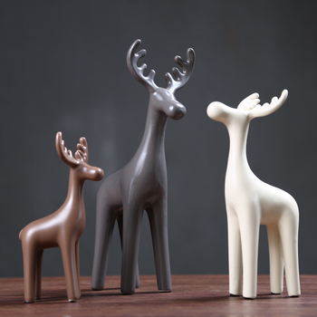 3PCS Ceramic Deer Bar Cafe Crafts Creative Gift Vintage Home Decor Decoration Accessories
