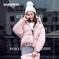 SHANPING/Autumn Parkas Winter Jacket Women Coats Female Outerwear Plus Size Casual Short Down Cotton Wadded Lady Fashion Warm