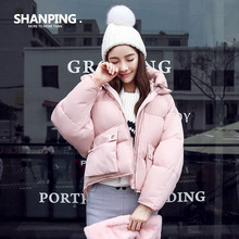 SHANPING Autumn Parkas Winter Jacket Women Coats Female Outerwear Plus Size Casual Short Down Cotton Wadded