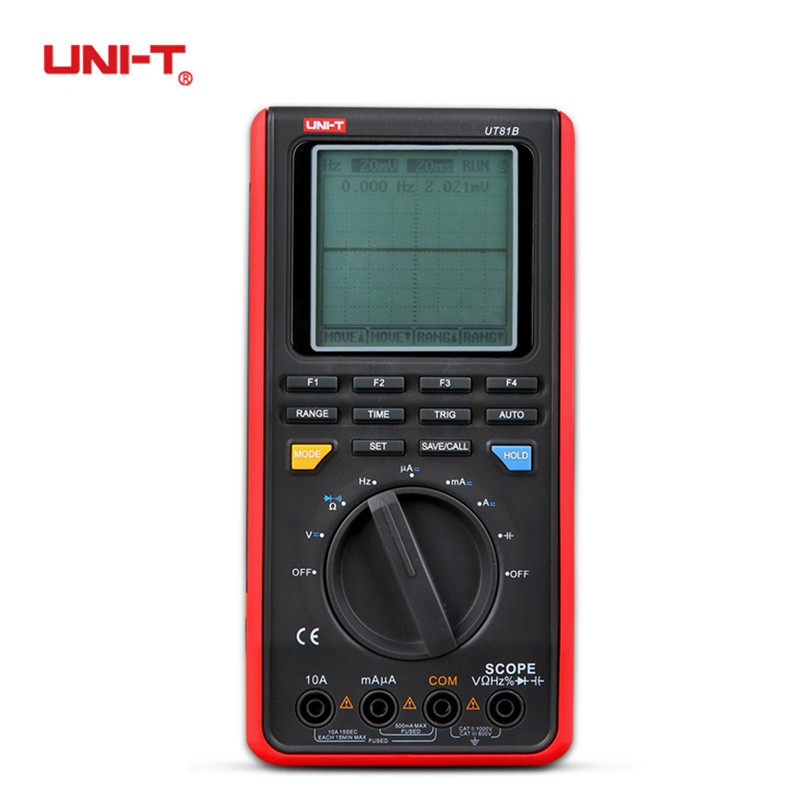 UNI-T UT81B Handheld LCD Digital Scopemeter Oscilloscope 8MHz 40MS/s Real-Time Sample Rate Digital Multimeter With USB Interface