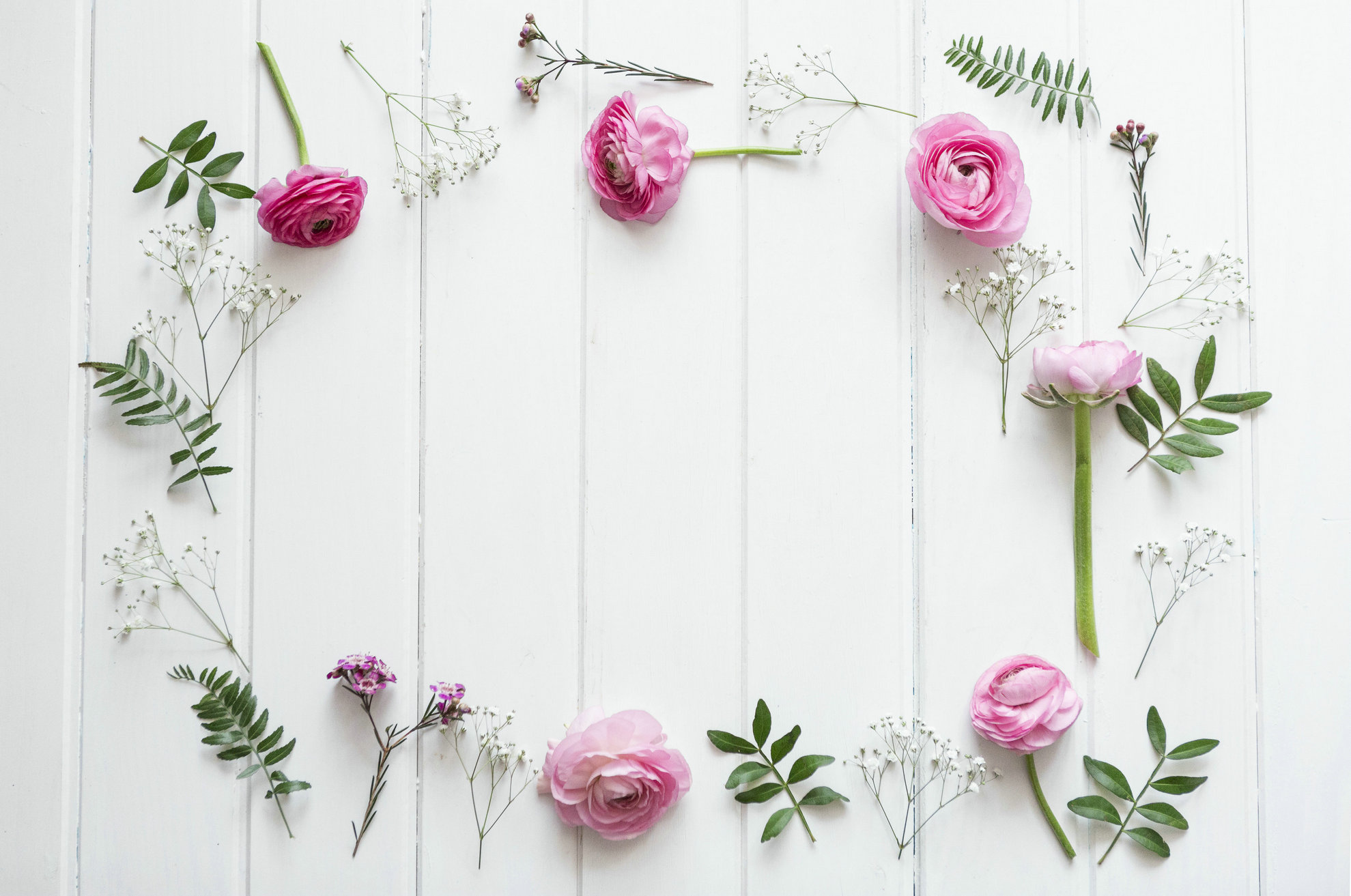 Decorative Pink Flowers White Real Wood Photography Backgrounds