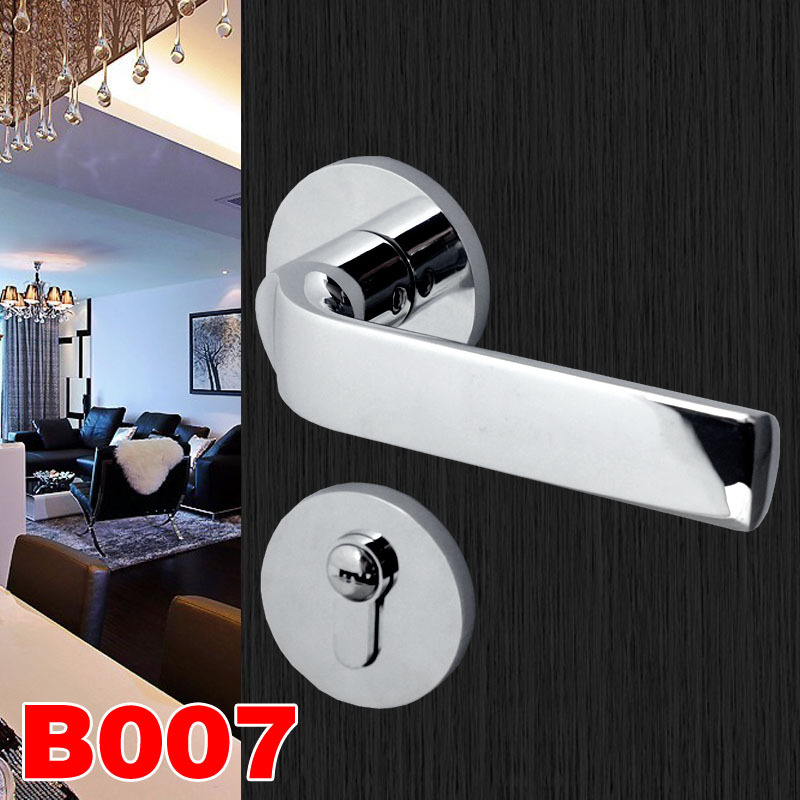 2018 Limited Time-limited Simple Bedroom Door Lock, Solid Wood Toilet, Lock Handle, Split Bright Chrome Magnetic Suction Lock. все цены