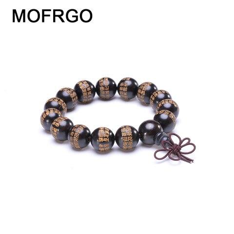 Купить браслеты из натурального черного дерева с молитвенными бусинами