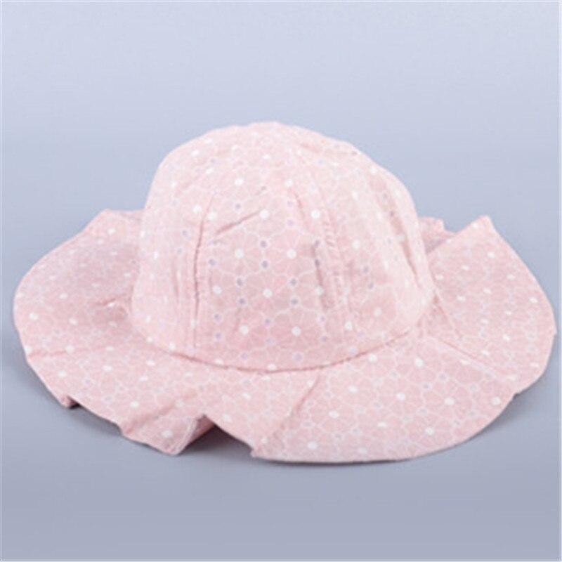 Beanie Cute Princess Baby Sun Hat Cotton Bucket Caps Baby Beach Kids Girls Cap with Wide Brim Spring Summer Beach Bucket Hats