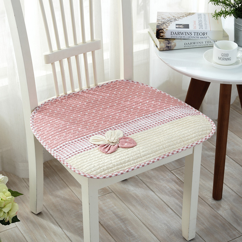 korean style decorative flower printed taboret seat cushion soft dining chair bar stool car office cushion - Bar Stool Cushions