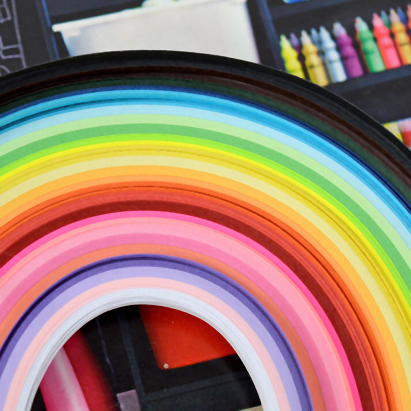 Paper Width:7mm Paper Quilling Kit 260 Stripes Multi Color 3mm 5mm 7mm 10mm Hand Craft DIY Toy