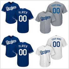 11ae8267fd5 Men s Los Angeles Dodgers White Home Cool Base Custom Jersey(China)