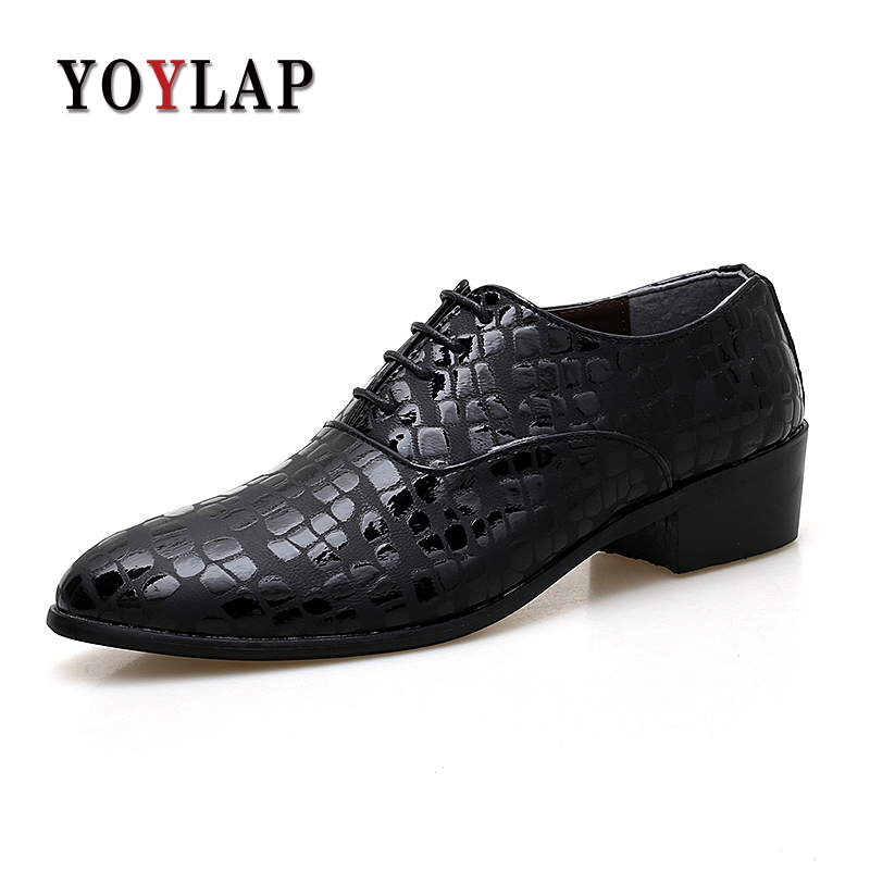 be176a7521 US $25.71 42% OFF|Aliexpress.com : Buy Yoylap Brand 2018 Italian Wedding  Men Dress Shoes Pointed Leather Business Men Formal Shoes from Reliable ...