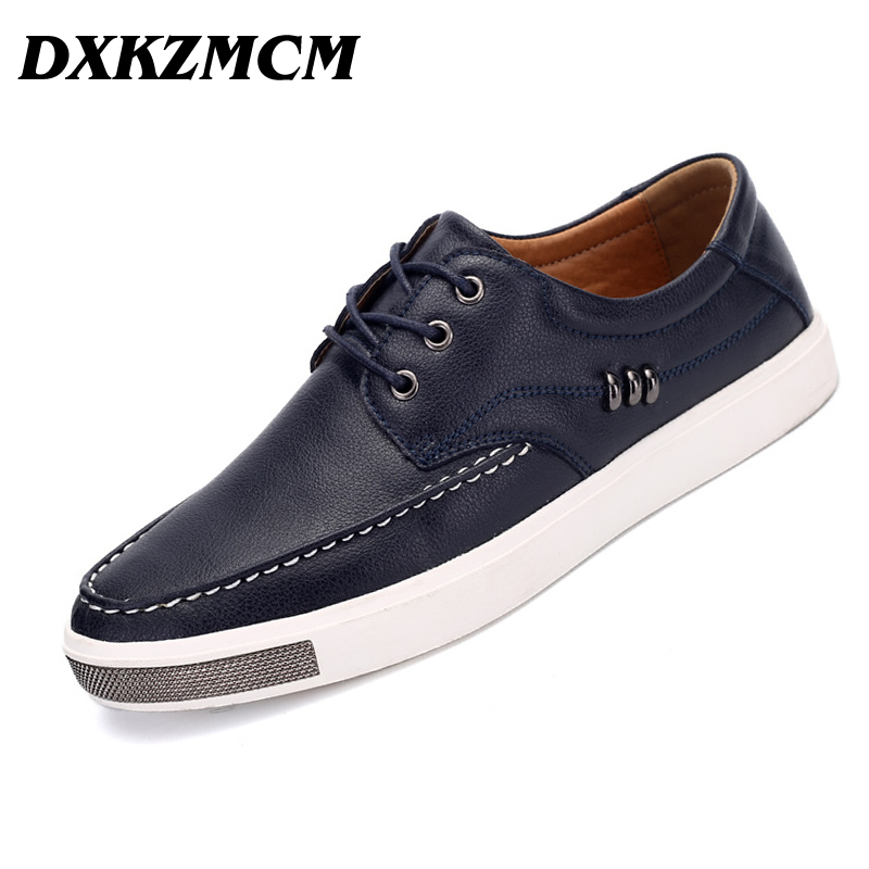 DXKZMCM Genuine Leather Men Casual Shoes,  New Arrive Leather Men Flats  Men Shoes dxkzmcm new men flats cow genuine leather slip on casual shoes men loafers moccasins sapatos men oxfords