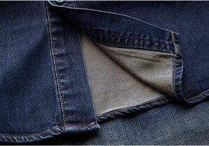 Image 5 - KUEGOU 2019 otoño 100% Camisa vaquera azul de algodón camisa de vestir para hombres botón Casual Slim Fit manga larga para hombre moda marca blusa 15005