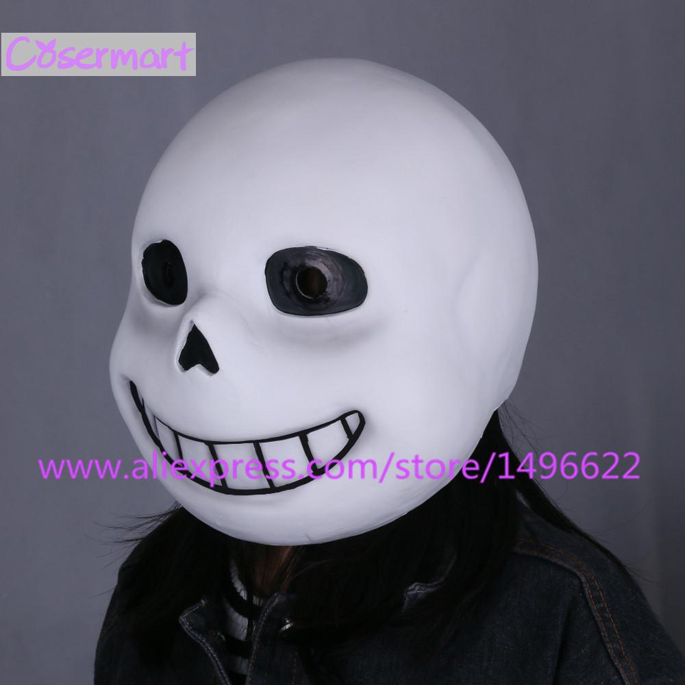 Hot Game Undertale Mask Hard Latex Cosplay Sans Papyrus helmet Full Head Masks Halloween Party Prop (8)