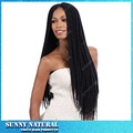 Lace Front Box Braid Wigs with Natural Baby Hair Synthetic Lace Front Wig Black Hair Glueless Wig Heat Resistant For Black Women