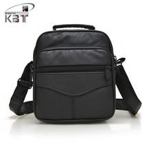 Bag New Genuine Sheepskin Leather Vertical Men's Handbag Messenger Bag Crossbody Shoulder Bags Camera Phone Pack Bag Black