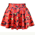 East Knitting New 2014 summer women pleated skirts Adventure time Stawberry Princess SKIRT Saia S M L XL plus size