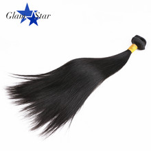 Glam Star Straight Human Hair Brazilian Non Remy Hair Weave 8 to 30 inches Color 1B 1 Bundle Lot 100G Free Shipping