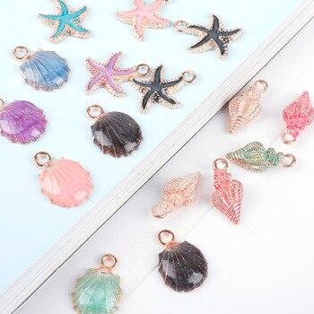 10 sztuk muszla muszla morze Charms Ocean zawieszki dokonywanie DIY Handmade Craft Making biżuteria dekoracyjna akcesoria mody prezenty